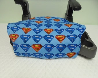 Superman toddler booster seat cover