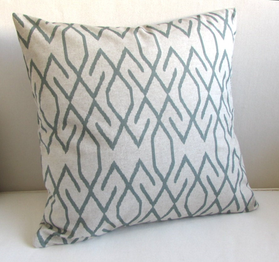 22x22 Decorative Pillows : ZOE POOL mist/gray decorative pillow cover 18x18 20x20 22x22