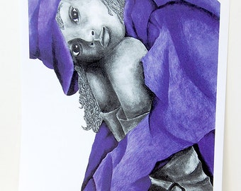 Purple Girl 2 Signed Print