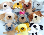 Felt Dog Finger Puppets Sewing Pattern - PDF ePATTERN