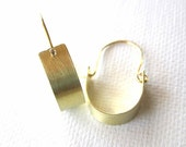 Modern Golden Stirrup Earrings - small version