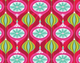 Blend Fabrics • Hip Holiday • Ornament Glam Red • Cotton Fabric 0.54yd (0.5m) 001770