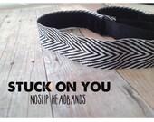 no slip | non slip | fitness headband | yoga headband | running headband | marathon | softball | chevron  | black and white |