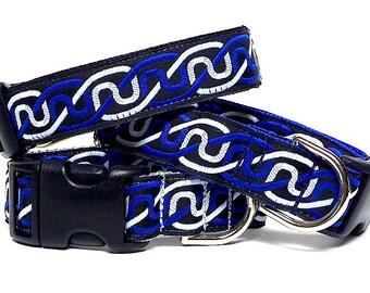 Dog Collar, CELTIC dog collar, INFINITY KNOT, blue dog collar, black dog collar, silver dog collar, tag collar, buckle collar, house collar