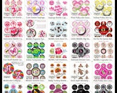 510 Bottle Cap Image Digital Collage Sheets Lot 1 Inch Circle 4x6 JPEG - Instant Download