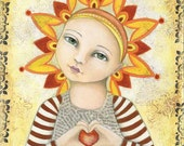 "Art Print - ""Be the Light"" by Deanna Hogan, 9 X 12"