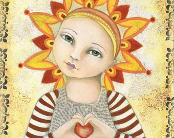 "Art Print - ""Be the Light"" by Deanna Hogan, 9 X 12"