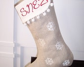 Snowflakes Embroidery Designs sc003d and Embroidered Christmas Stocking Sewing Directions in PDF