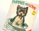 Vintage 1970's Children's Book PUPPIES TO LOVE a Start Right Elf Book from Rand McNally