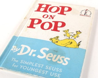 "Vintage Dr. Seuss Book ""Hop on Pop"""