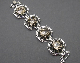 Wide Lucite Confetti Bracelet Fifties Tara Jewelry B6296