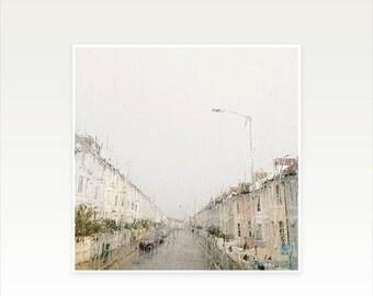 SALE 30% OFF Rain Photography, City Art, Pastel Decor - Rainy Sunday