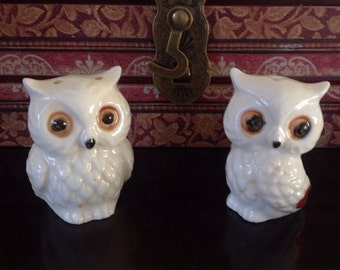 Little owls salt and pepper shakers