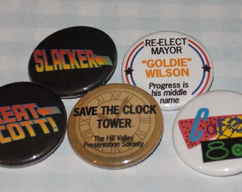 Back to the Future pinback button - CHOOSE ONE