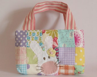 Bag easter patchwork mixed yellow flower