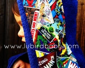 "Hooded Towel ""Superheros"""