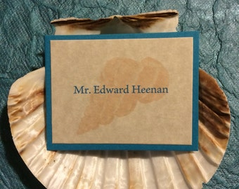 matted table name tags