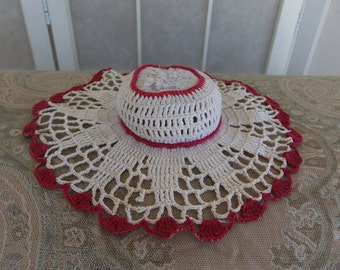 Vintage 1930's Crocheted Pin Cushion