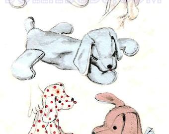 "Vintage Advance 16"" Stuffed Dog Pattern 6588"