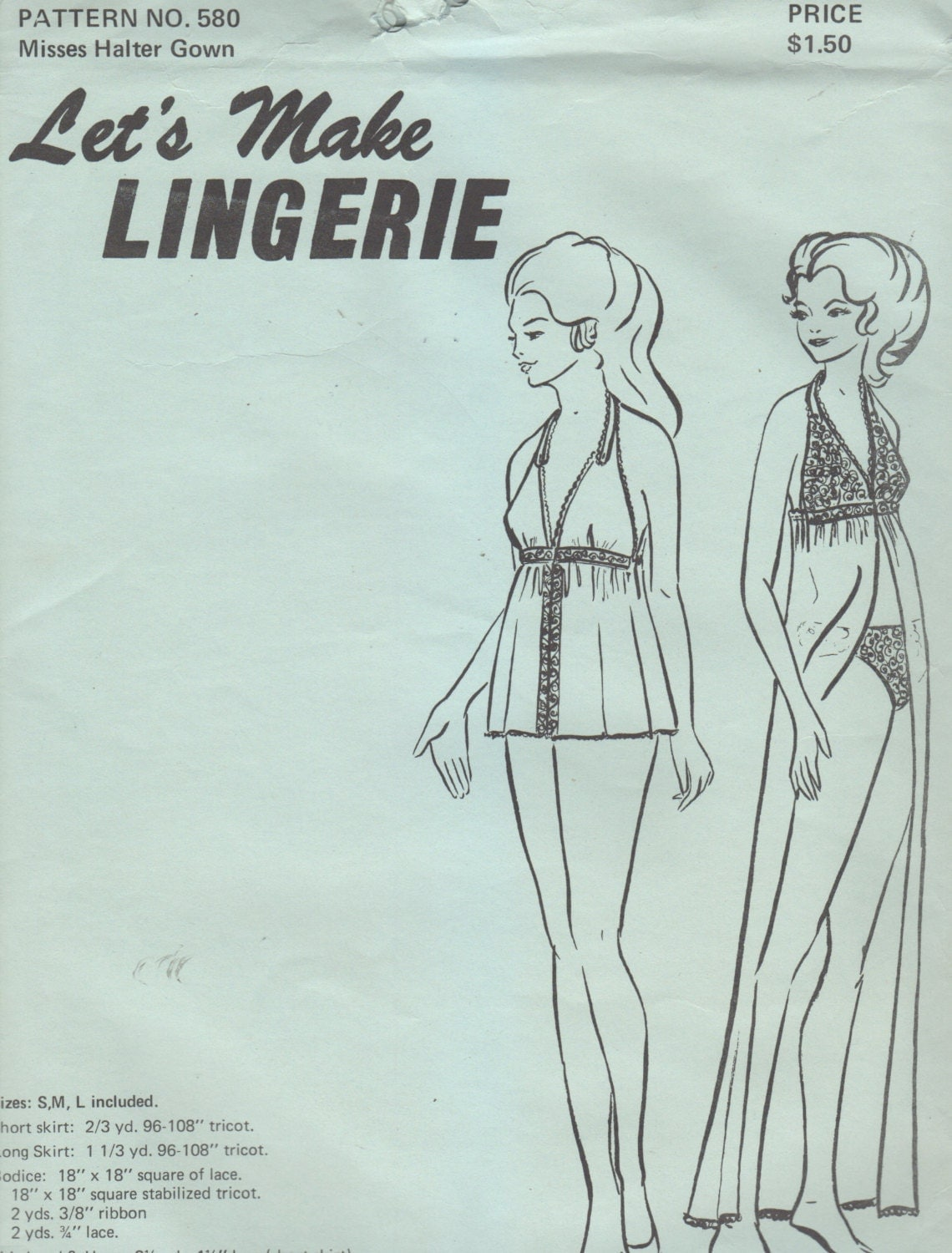 Lets make lingerie 580 1970s misses lingerie halter by mbchills