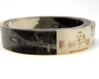Vintage Photo Bangle Bracelet