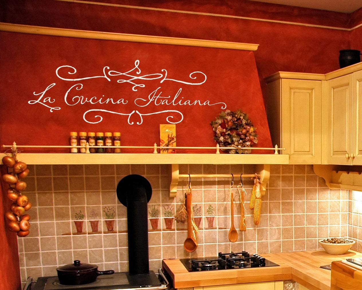 Kitchen Wall Decal La Cucina Italiana The Italian