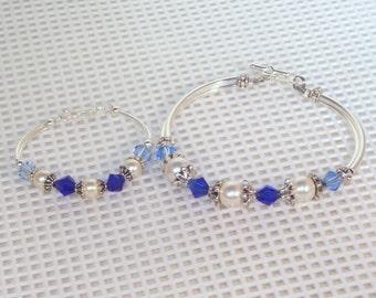 Flower Girl or Junior Bridesmaid Bracelet - Silver, Bridal, Keepsake, Wedding