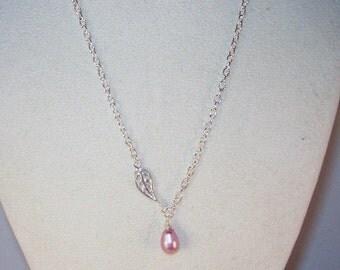 Swarovski Pearl Bridal Jewelry - Bridal Necklace - Swarovski Teardrop - Any Color -