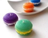 French Macaron Candles - TROPICAL - Set of 4 - Assorted Scents