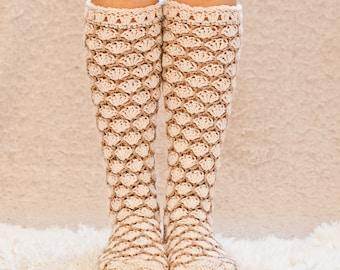 Crochet PATTERN  - Honeycomb Socks