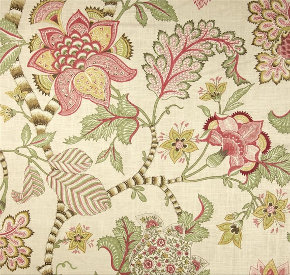 Items Similar To English Cottage Style Curtains Shabby Chic Window Curtains Pink Home Decor