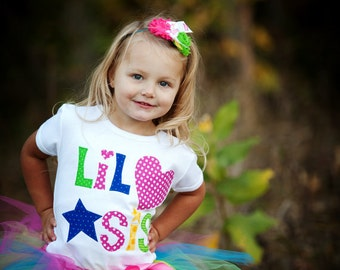 Lil Sis Tee, Sibling Shirts, Big Sister, Little Sister, Big Brother, Little Brother, New Baby, Birth Announcement, Made To Order