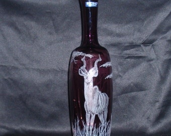 Kudu, Hand Carved, Glass,  Horns, Safari, Game Viewing, African, Home Decor, Signed by the Artist