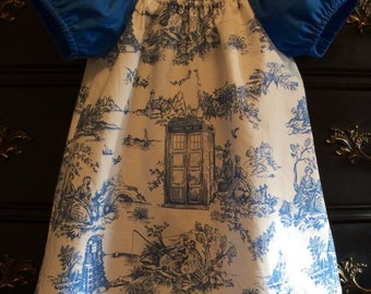 Doctor Who Toile Tunic, Girls Doctor Who Clothing, Doctor Who Shirt, Doctor Who Baby