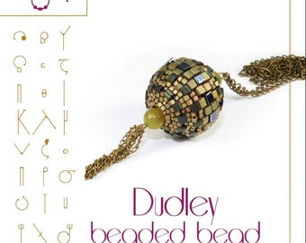 Dudley beaded bead Pattern with miyuki cube beads - PDF instruction for personal use only