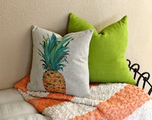 Pineapple Pillow, Tropical Pillow Cover, Pineapple, Decorative Pillow, Decorative Pillow, Summer Pillow, Pineapple Decor