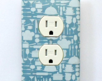 CUSTOM Kitchen Series- Your choice of Formats: Switchplates Outlet covers singles doubles combos & MATCHING SCREWS- Retro kitchen style sets