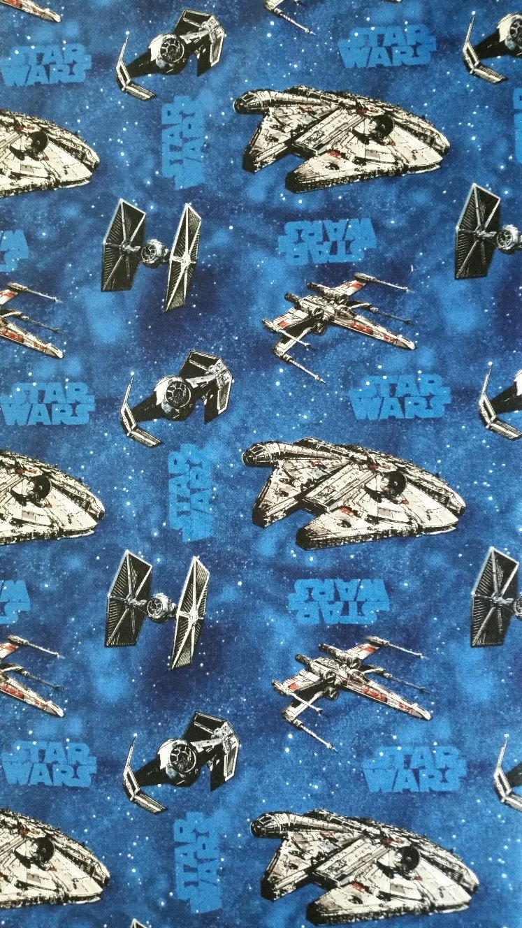 Cotton fabric star wars ships lucasfilm novelty star wars for Star fabric australia