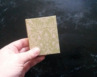 Hand-bound small notebook - Green