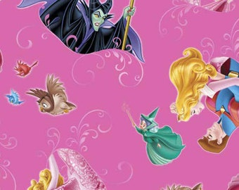 Disney Sleeping Beauty Film Toss By The Yard Cotton Woven