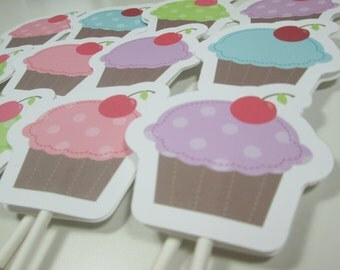 SALE / CLEARANCE Cupcake Toppers