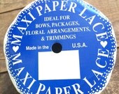 Reserved - Lace Paper Ribbon 12 yard Roll - white