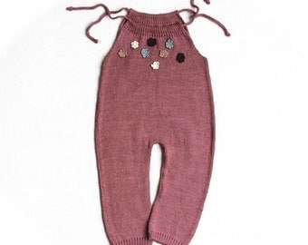 Pure Linen Knit Romper/Overall for Baby Girl  - Must Have  for Hot Summer