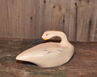 Sleeper Swan decoy woodcarving