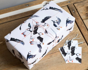 Puffin Parade Wrapping Paper - 100% Recycled