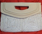 SALE - Last Chance - Vintage Wicker Handbag Purse