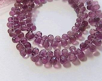Pink Tourmaline Gemstone Bead. Semi Precious Gemstone. Faceted Tourmaline Teardrop Briolette 6mm Pairs or NonMatch 1 to 10 Briolettes (1tml)