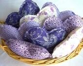 8 purple fabric heart bowl fillers