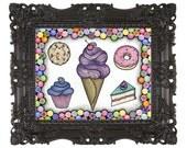 8x10 Sugary Sweet Print by Cora Rountree