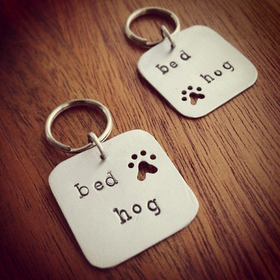 Handmade Pet Tag. Bed Hog Metal Dog Tag. Cute Gift for Pets, Pet Lovers. Aluminum Pet Tag. ID Tag for Dogs. Animal Accessory.